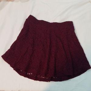 Forever 21 Lace skater mini skirt